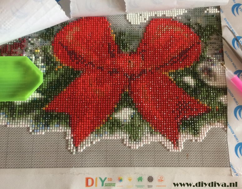 diamond painting kerststrik dediydiva