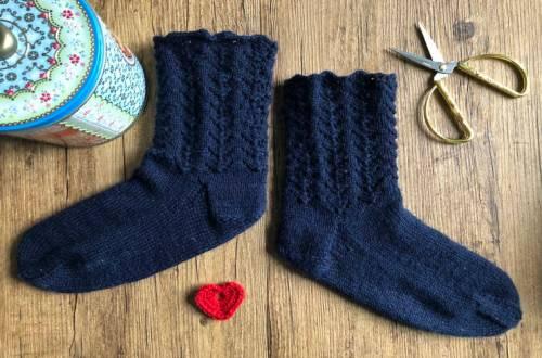 ajour sokken breien