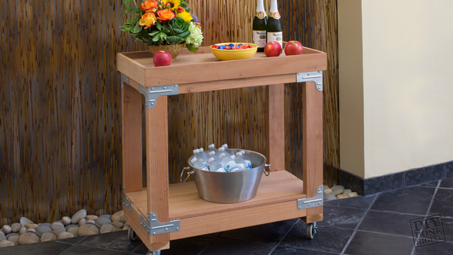 IndoorOutdoor Bar Cart  DIY Done Right