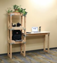 DIY Standing Desk with Shelving Unit Project Sheet - DIY ...