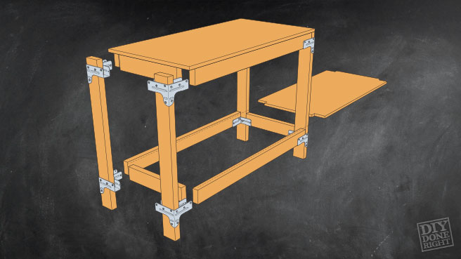 Heavy Duty Work Table Diy Done Right