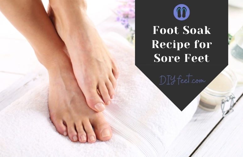 Foot Soak Recipe for Sore Feet with Essential Oils