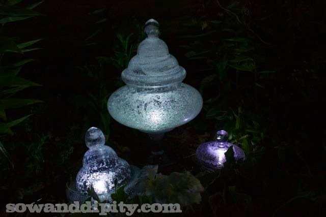 DIY Glow In The Dark Garden Light Sculptures Do It Yourself Fun