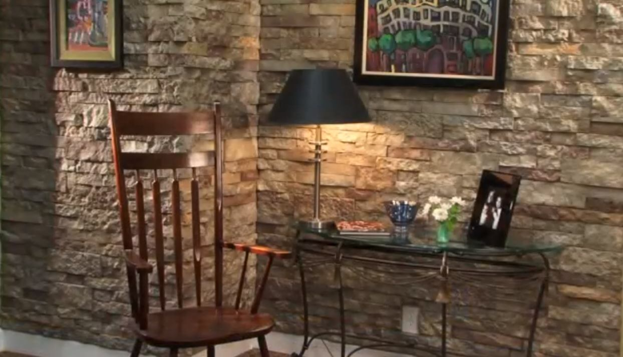 How To Update With Beautiful Faux Stone Finish Do It Yourself Fun Ideas