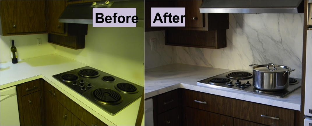 How To Refinish Laminate Counters With Faux Marble Do It Yourself