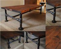 DIY Industrial Pipe Coffee Table - Do-It-Yourself Fun Ideas