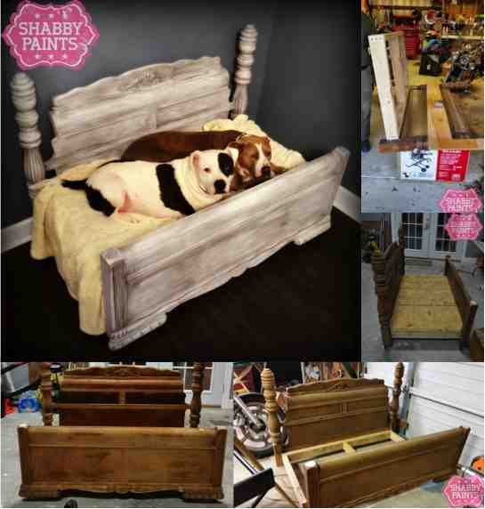 DIY Bed Frame Upcycled to Gorgeous Pet Bed  DoIt