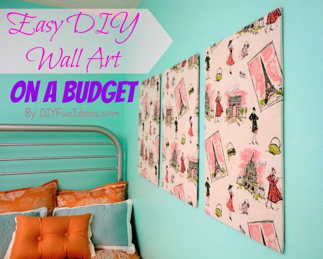 super easy fabric panel diy wall art on a budget do it yourself