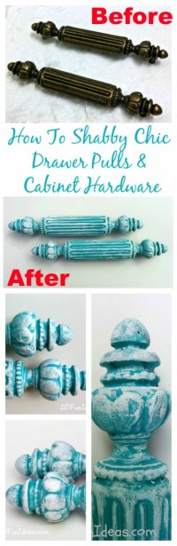 HOW TO SHABBY CHIC ANTIQUE CABINET HARDWARE