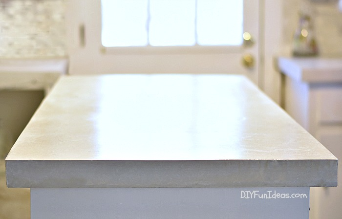How To Make Diy Cast In Place White Concrete Countertops Do It
