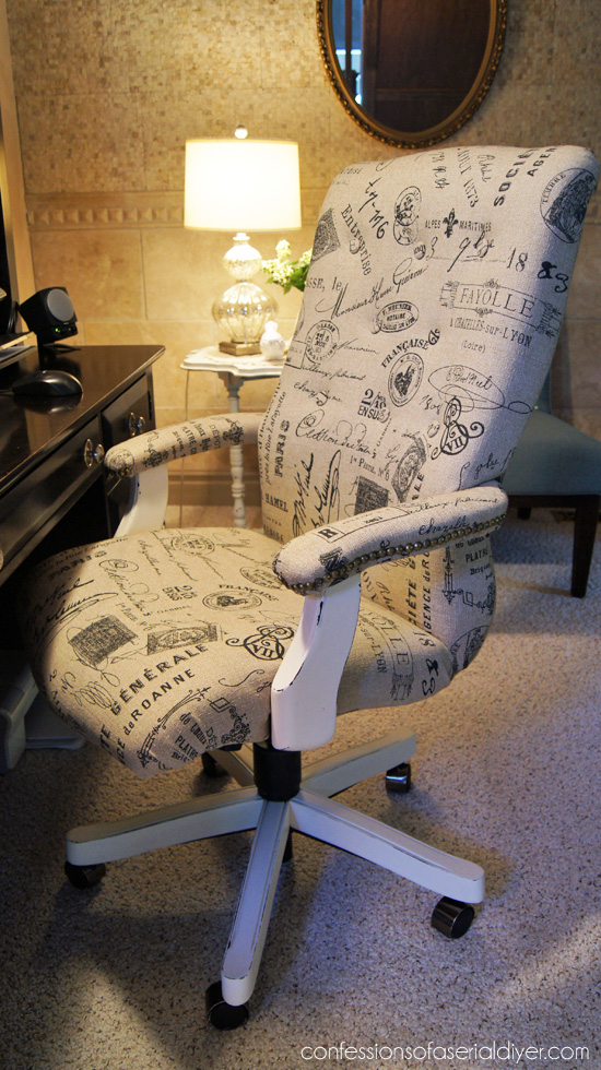 Tufted French Desk Chair Makeover Diy Furniture Makeovers
