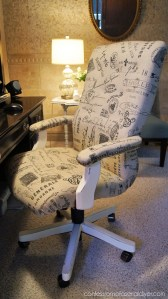 Tufted French Desk Chair