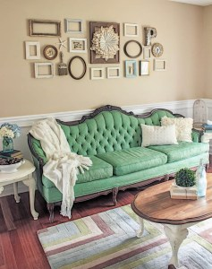 Green Painted Sofa