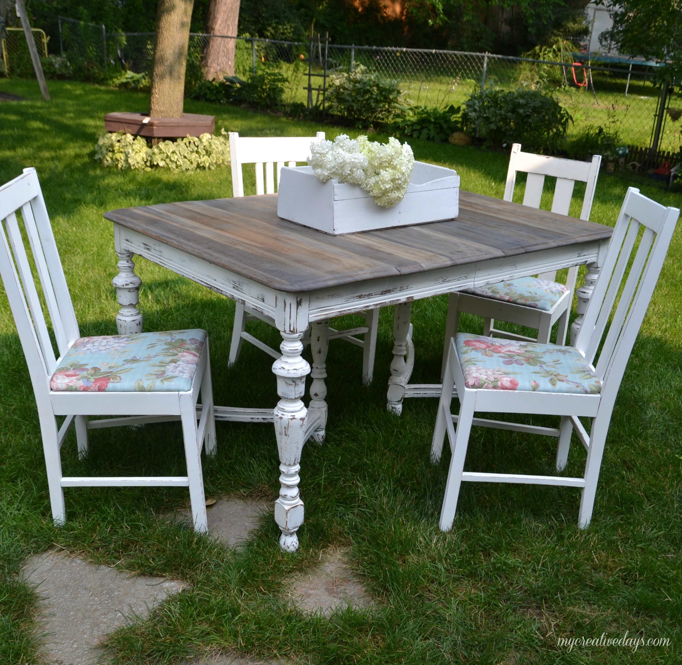 Curbside Farmhouse Dining Set Makeover - by My Creative Days