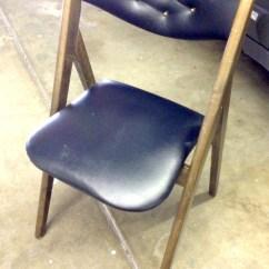 Folding Chair Rack Diy Boston Rocking Bright Vintage Makeover Furniture