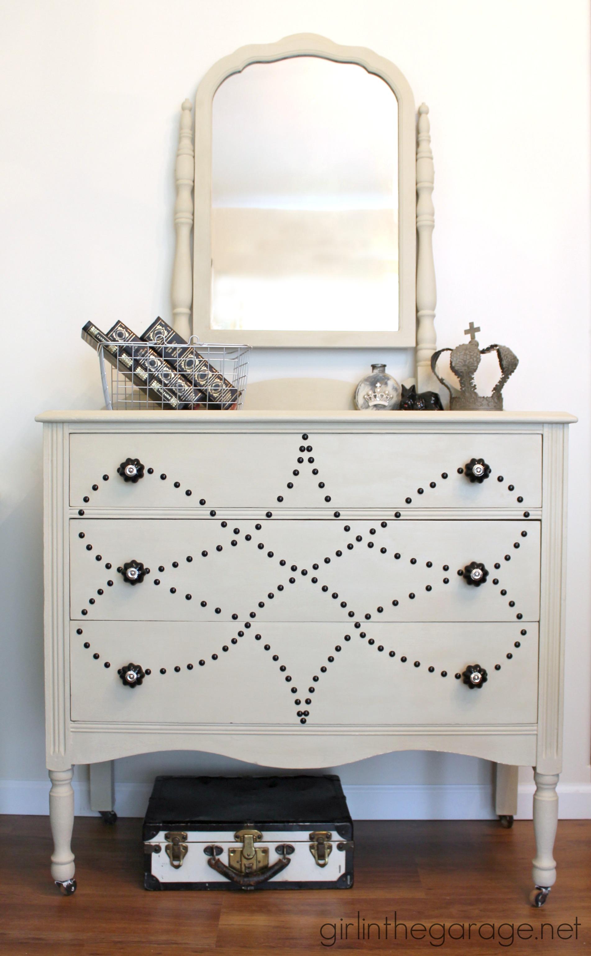 Nailhead Dresser Makeover  DIY Furniture Makeovers