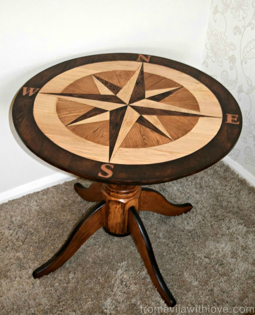 DIY Compass Table - by From Evija with Love