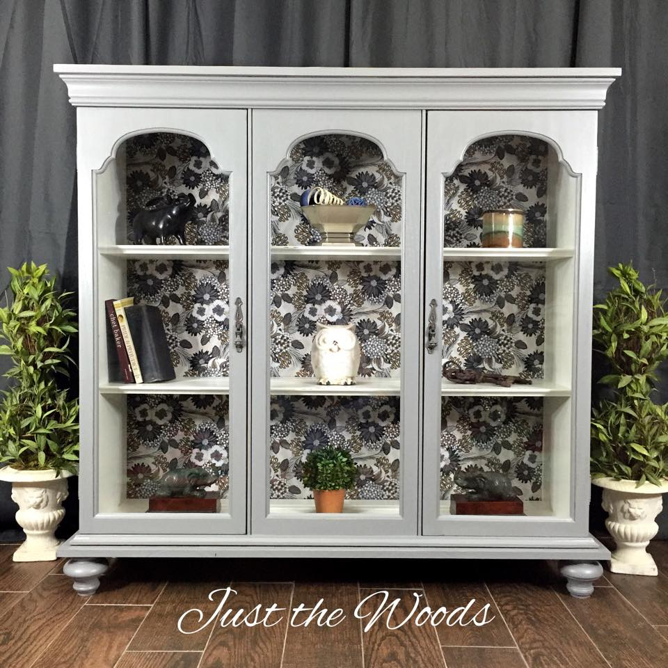 Upcycled Modern Curio Cabinet Makeover   By Just The Woods