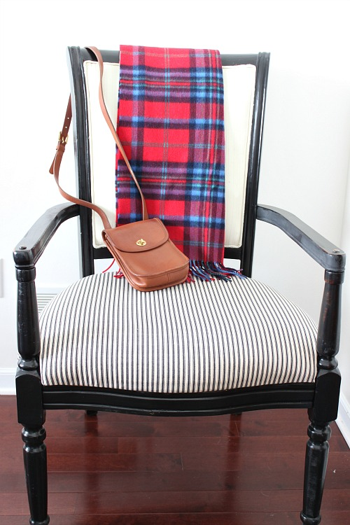 Chair makeover with paint and pinstripes - by Reinvented