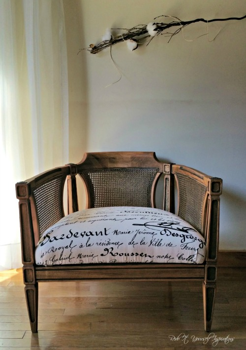 Faux Antique Chair Makeover - by Redo It Yourself Inspirations