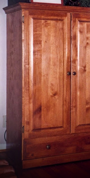 (Before) Vintage Farmhouse Armoire Makeover - by Lora's Beauty