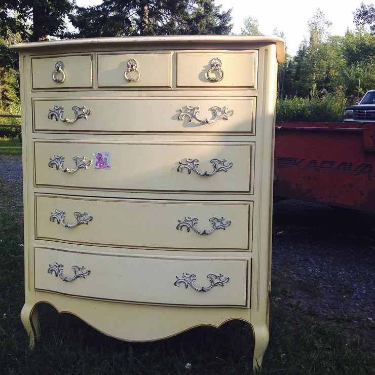 (Before) Gloss & Glamour Dresser Makeover - by Queen Patina
