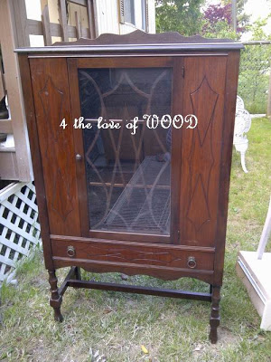 (Before) Antique Apothecary Cabinet Makeover - by 4 the love of WOOD