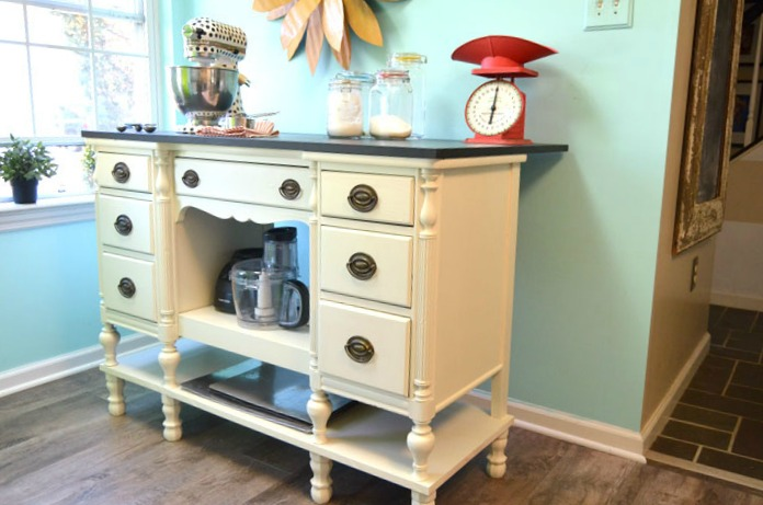 Repurposed Desk to DIY Kitchen Island - by Create and Babble