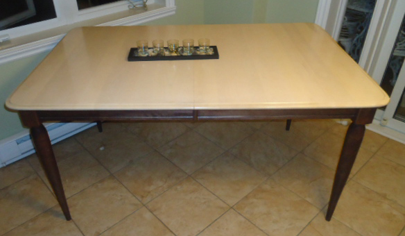 (Before) Dining Set Makeover - by Orphans with Makeup