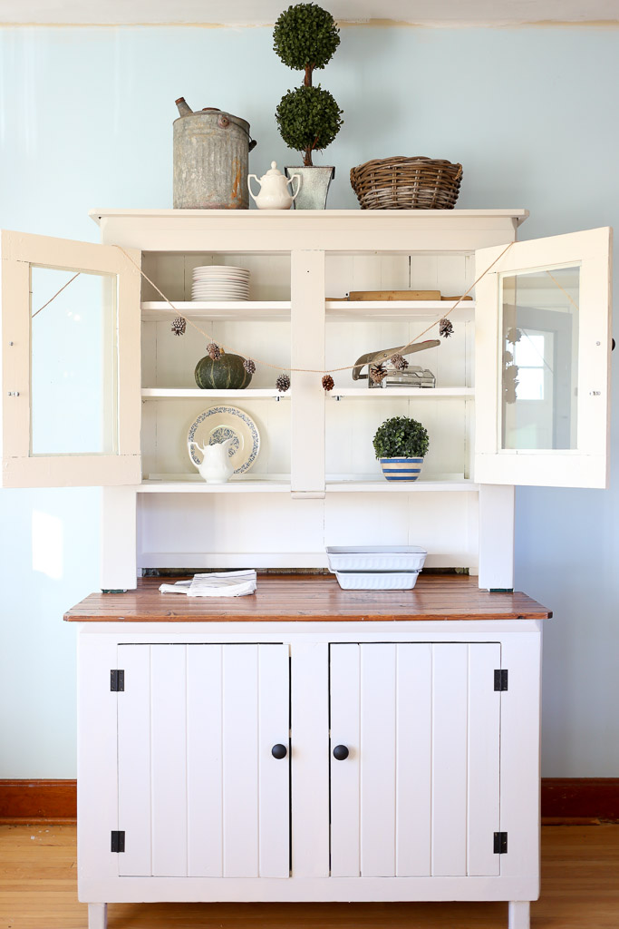 Farmhouse Hutch Makeover - by This Mama's Dance