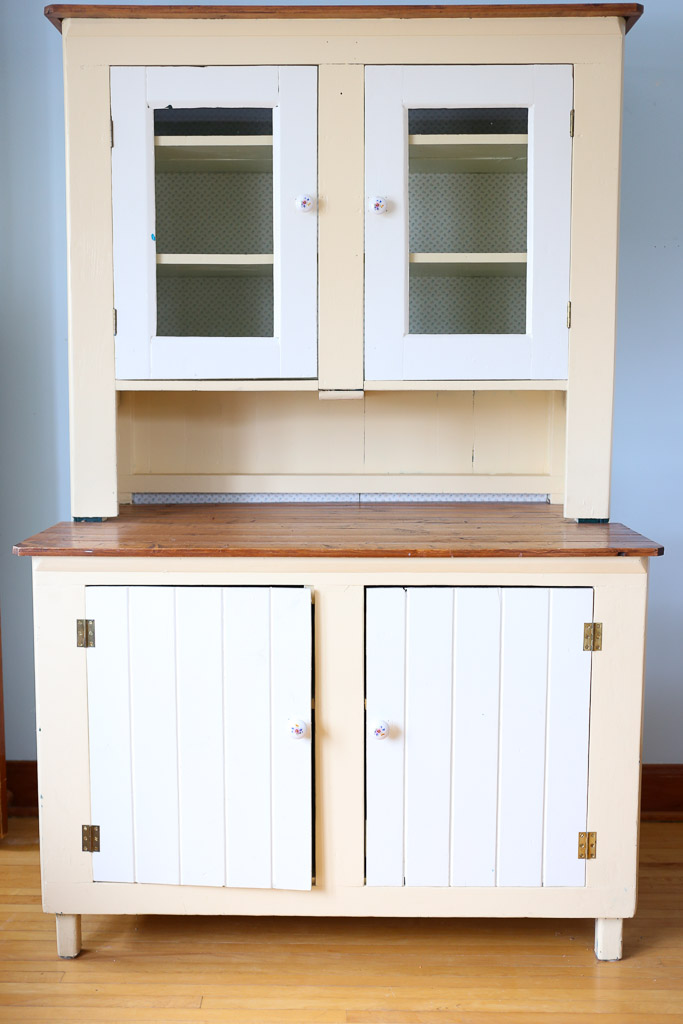 (Before) Farmhouse Hutch Makeover - by This Mama's Dance