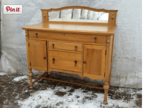 (Before) Antique Sideboard Makeover - by Orphans with Makeup