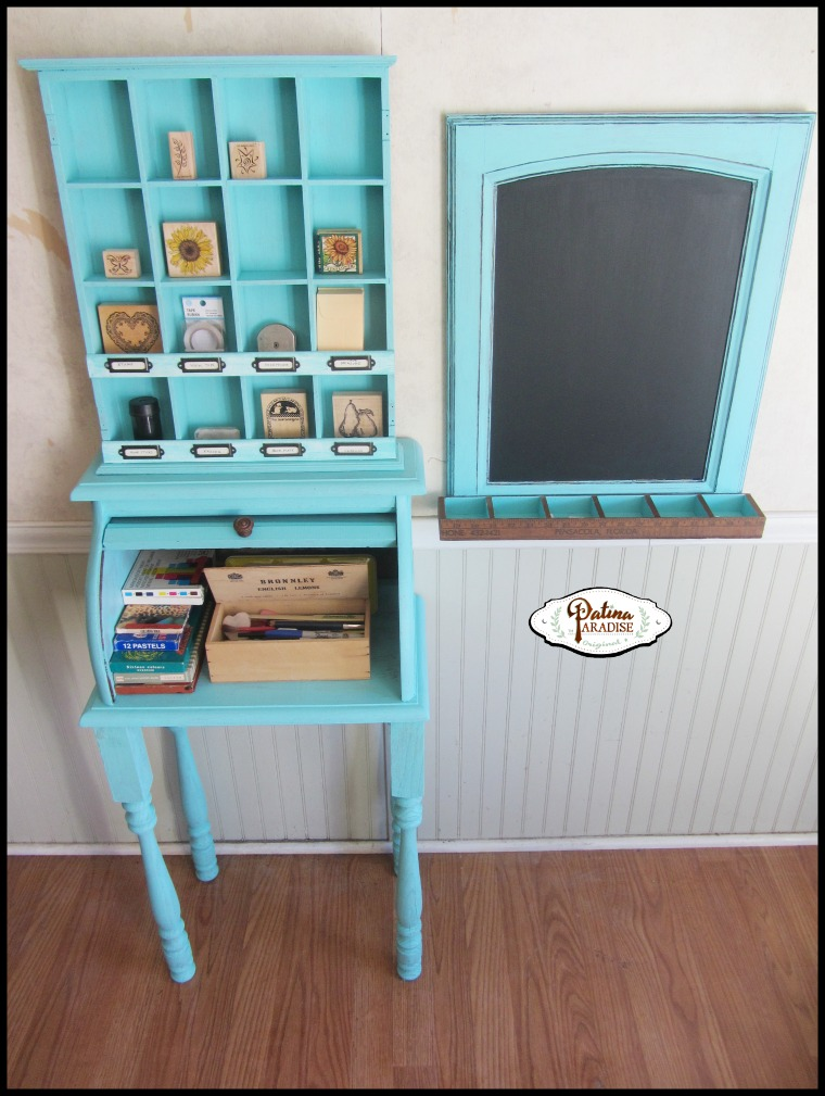 Repurposed Bread Box to Child's Crafting Desk - by Patina Paradise