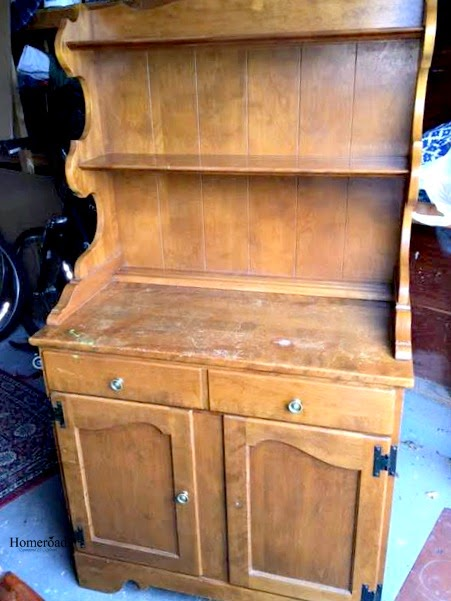 (Before) Old hutch to DIY potting bench - by Homeroad