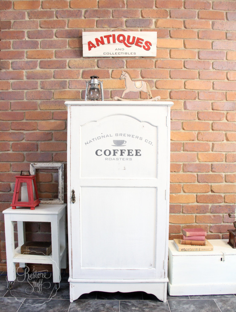 Antique Farmhouse Wardrobe Makeover - by I Restore Stuff