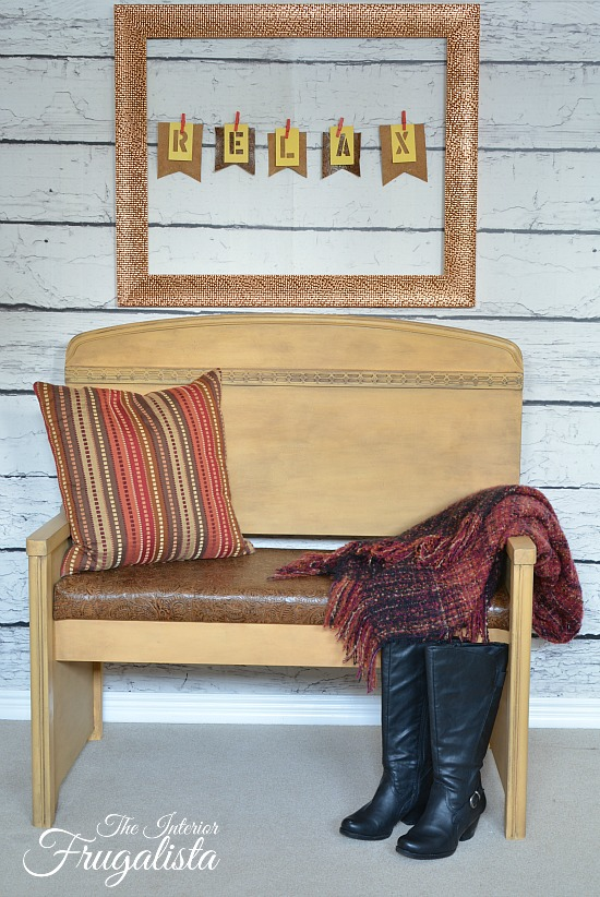 Better with Leather - Headboard Bench - by The Interior Frugalista