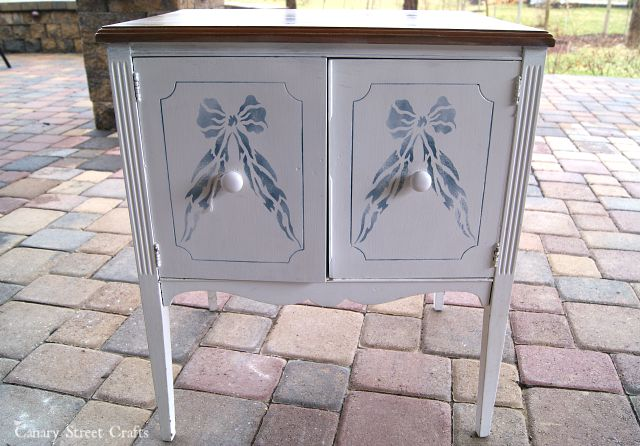 (Before) Duck Egg Table Makeover - by Canary Street Crafts