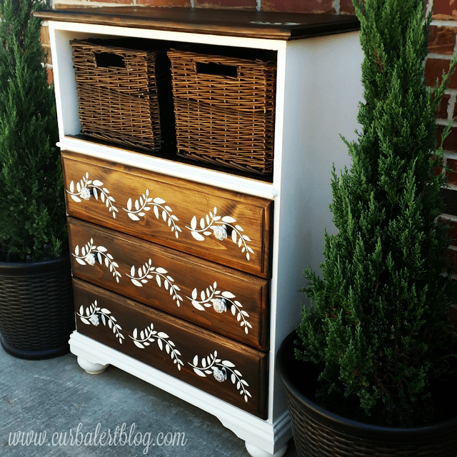 Trash to Treasure Dresser Makeover - by Curb Alert