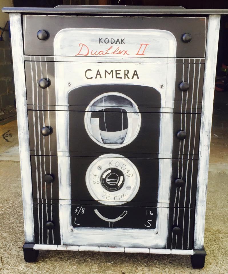 Camera Dresser Makeover - by New Old Finds