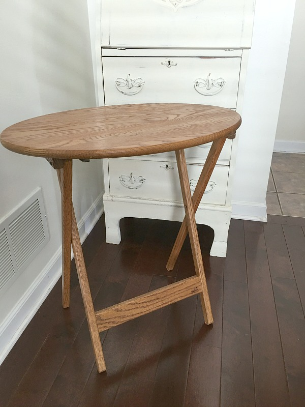 (Before) Farmhouse Folding Tray Tables - by Reinvented