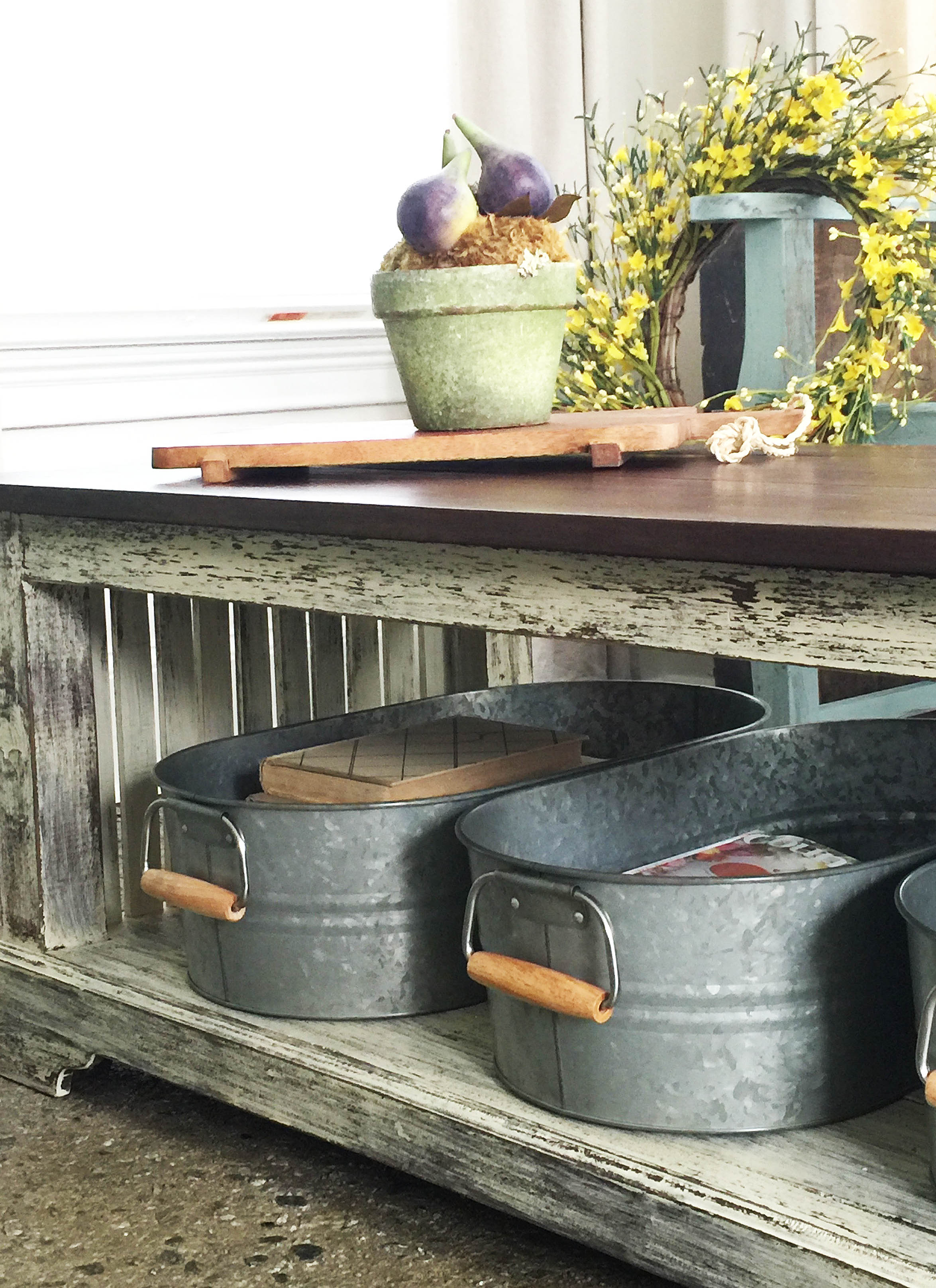 Rustic Farmhouse Coffee Table Makeover - by The Chelsea Project