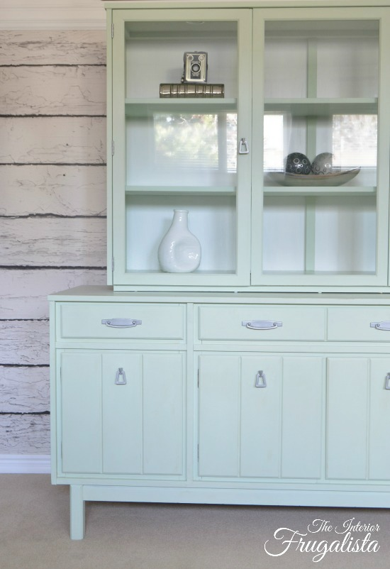 Mint Hutch Makeover - by The Interior Frugalista