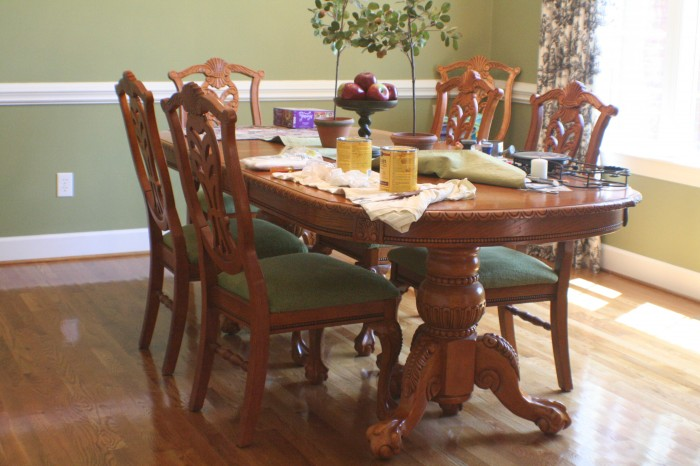 (Before) Dramatic Dining Set Makeover - by At Home With The Barkers