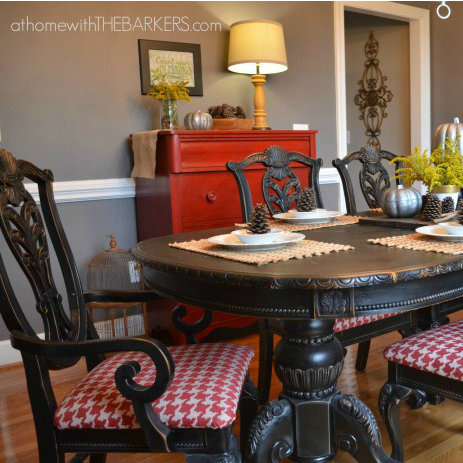 Dramatic Dining Set Makeover