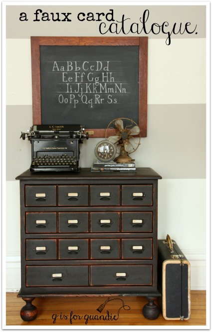 DIY Faux Card Catalog - by q is for quandie