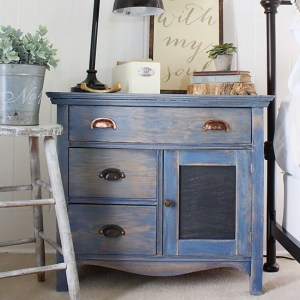 Denim Stained Sideboard