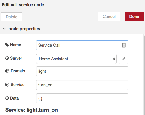 Service Call Node