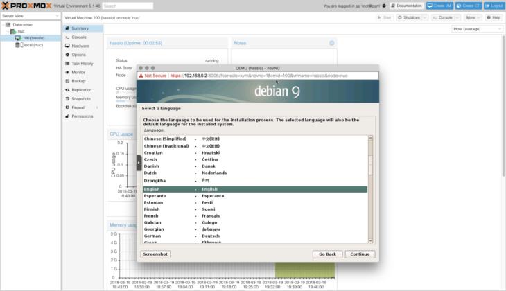 Installing Debian in a VM