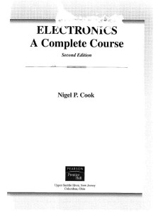 Electronics - A Complete Course (2nd Edition) Ebook