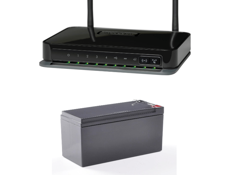 Battery powered adsl router